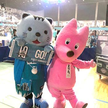 京都ハンナリーズVS大阪エヴェッサ戦 オープニングでPR!イメージ